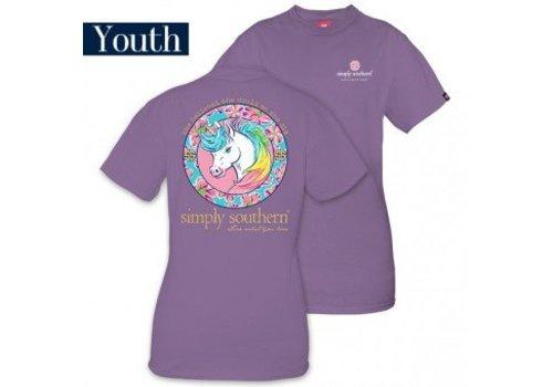 SIMPLY SOUTHERN Unicorn Amethyst T Shirt