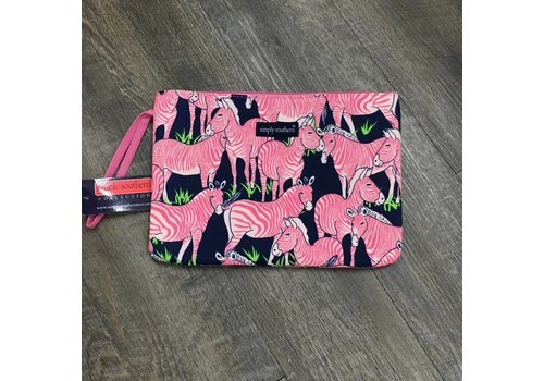 SIMPLY SOUTHERN Zebra Glam Bag Pouch