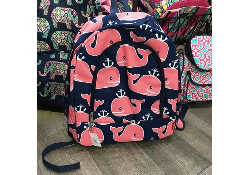 Navy Whale Backpack