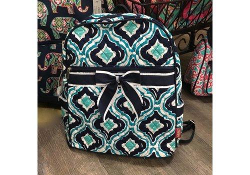Navy Retro Moroccan Backpack