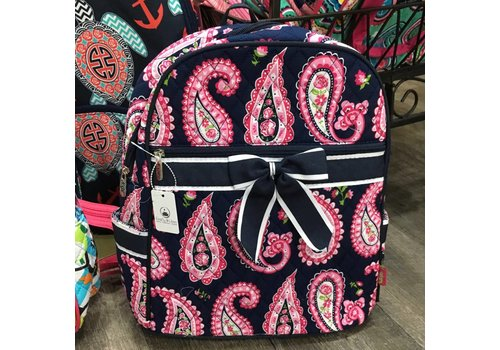 Navy Paisley Passion Backpack