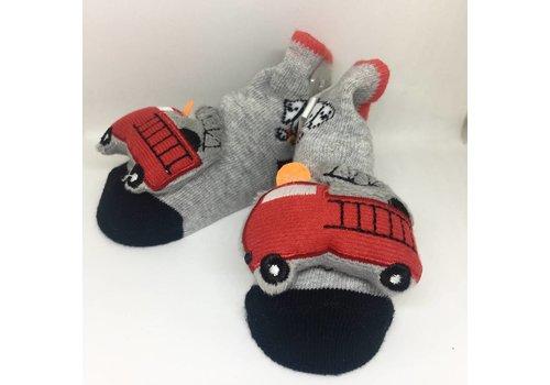 Baby Dumpling Firetruck Socks