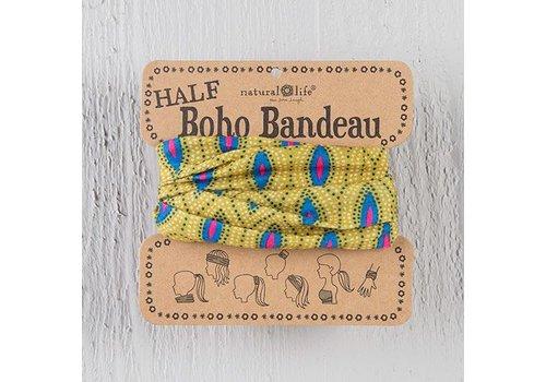 Blue & Pink Dot Half Boho Bandeau