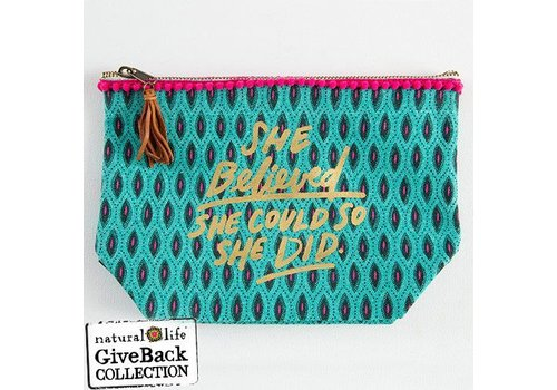 She Believed Canvas Pouch