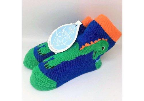 Baby Dumpling Dino Socks