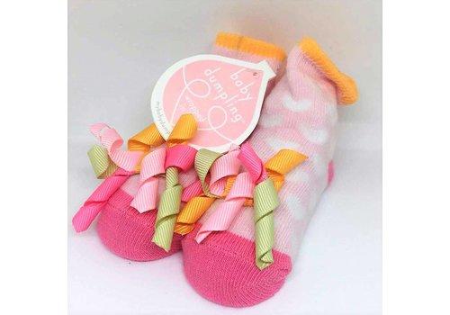 Baby Dumpling Hearts Socks