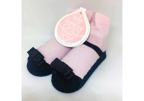 Baby Dumpling black maryjane socks