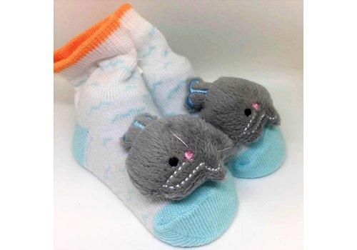 Baby Dumpling Blue Whale Socks