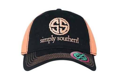 SIMPLY SOUTHERN Distress Logo Navy Hat