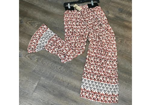 Abstract Floral Palazzo Pants