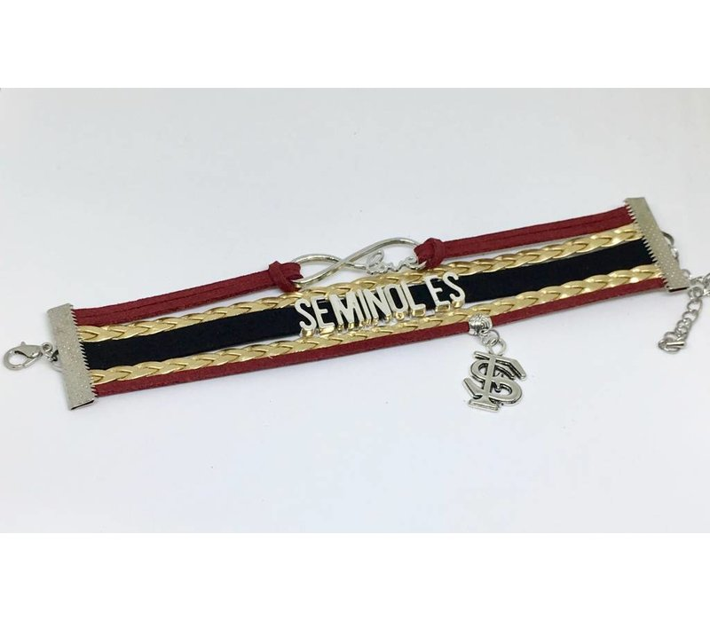 FSU Leather Bracelet