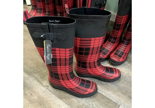 Gift Craft Plaid Rain Boots