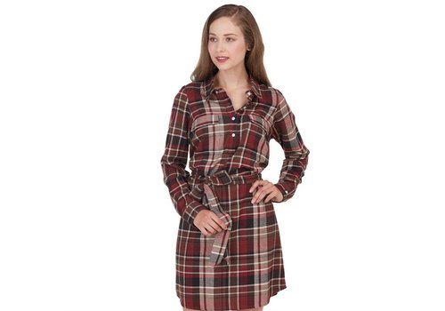 MUD PIE Bale Flannel Shirt Dress