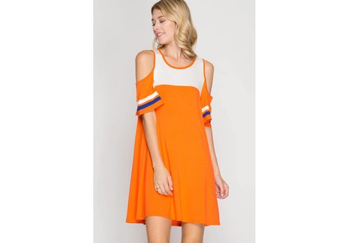 Cold Shoulder Game Day Dress