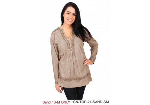 Sandy Pleated Shirt