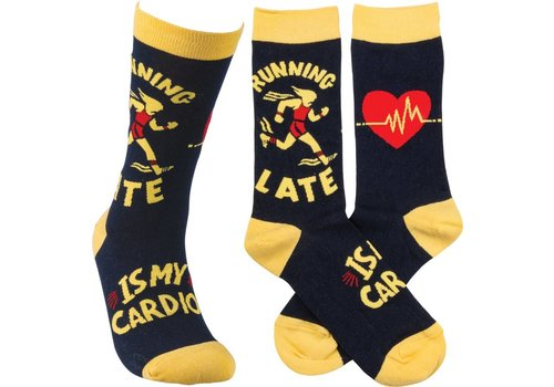 primative by Kathy Running Late is my Cardio Socks