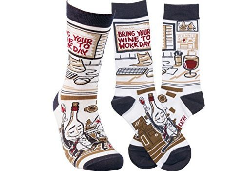 primative by Kathy Bring Your Wine To Work Socks