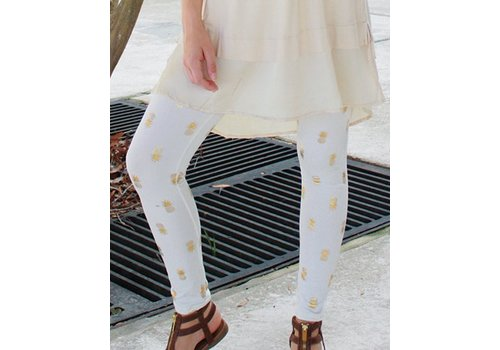 SIMPLY SOUTHERN Cream Pineapple Leggings
