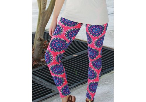 SIMPLY SOUTHERN Pink Flower Leggings