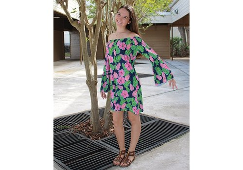 SIMPLY SOUTHERN Hibiscus Dress