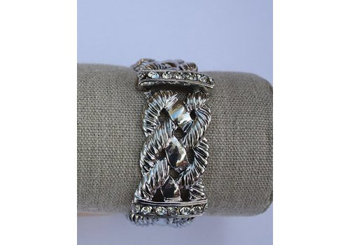 Gold or Silver Braided Metal Rope Bracelet