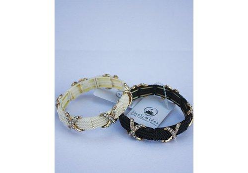 Crystal Stretch Rope Bracelet - Black or White