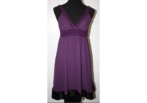 angie Purple Dress with flower detail