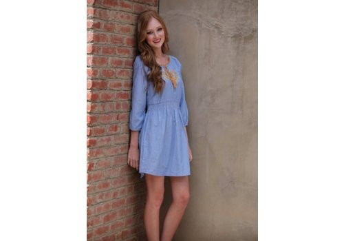 angie asis denim dress