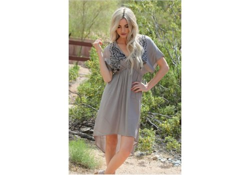 angie Asis Grey Tunic Top/Dress