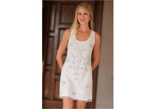 angie Ivory Embellished Dress