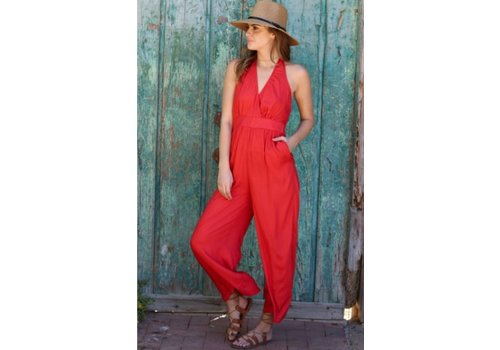 angie Coral Jumpsuit