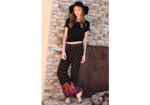 angie Black and Pink Palazzo Pants