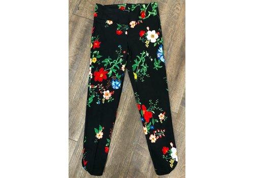 zoe & rachel Zac & Rachel black floral ankle pants
