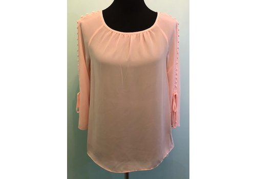 zoe & rachel Pink Botton Detail Blouse