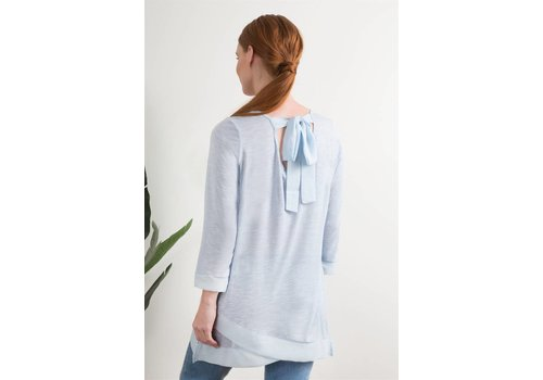 Bow Back Top - sky blue or cream
