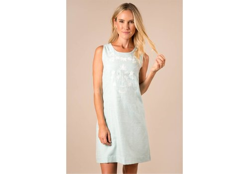 Embroidered Sleeveless Day Dress