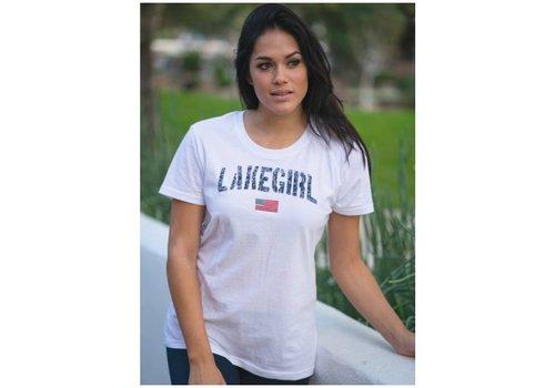 lake girl Lake Girl Relaxed Flag T-Shirt