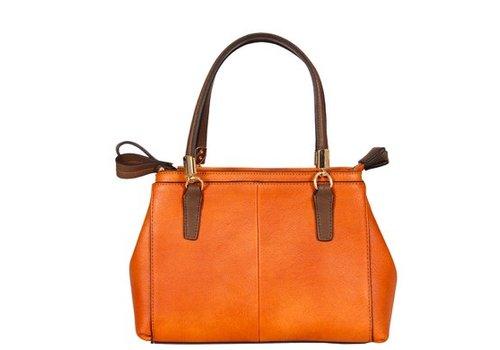 Neutral Zippered Shoulder Bag