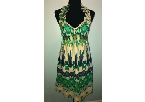 Patterned Dress - green