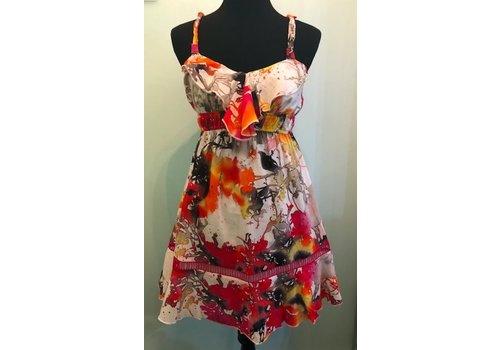 aryeh Colorful Summer Dress with Ruffle Top