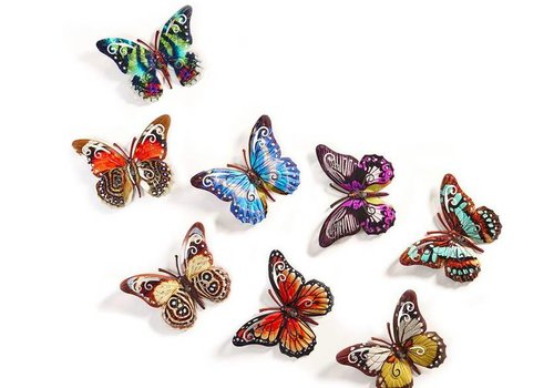 Gift Craft Butterfly Wall Art -pick one of 8 colors