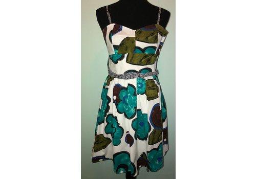 aryeh Aqua Floral Summer Dress