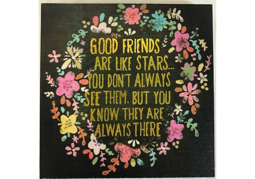 """natural life """"Food friends are like stars"""" Plaque"""
