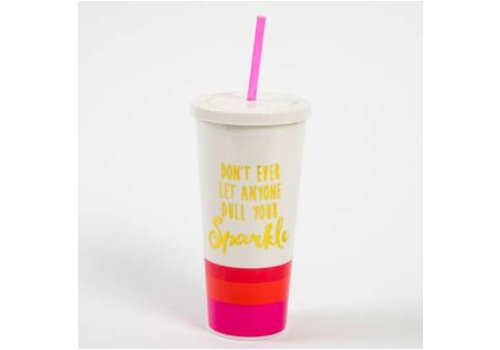 """natural life """"Don't ever let anyone dull your sparkle."""" Travel Cup"""