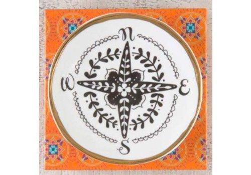 natural life Compass Trinket Dish