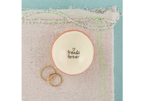 """natural life """"Fiends Forever"""" cute jewelry dish"""