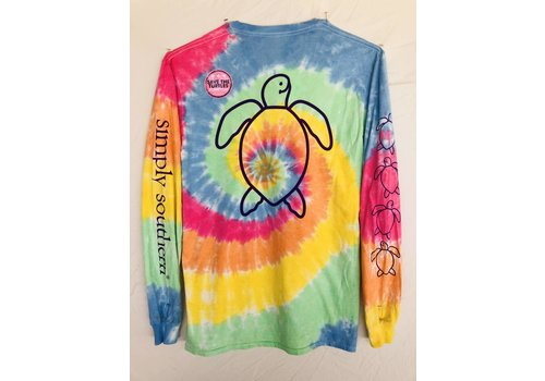 SIMPLY SOUTHERN Youth Simply Southern Long Sleeved Save the Sea Turtles -Tie Dye
