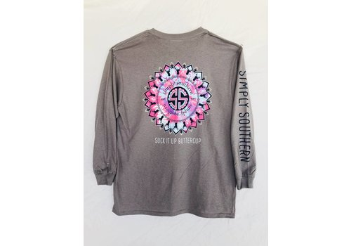 SIMPLY SOUTHERN Youth Simply Southern Long Sleeved - Buttercup