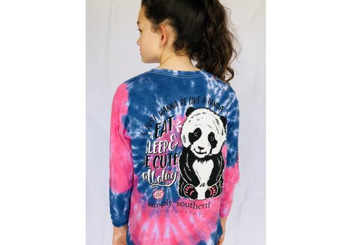 SIMPLY SOUTHERN Youth Simply Southern Long Sleeved Panda Tie Dye