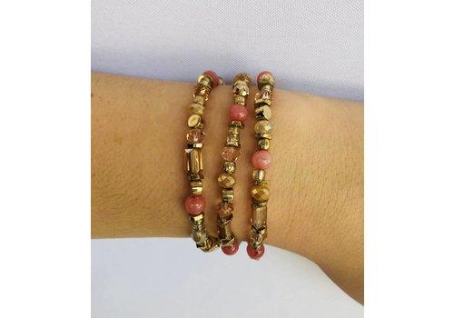 rose / gold or neutral cluster bracelet